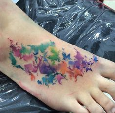 Watercolor Stars on Foot by Trix
