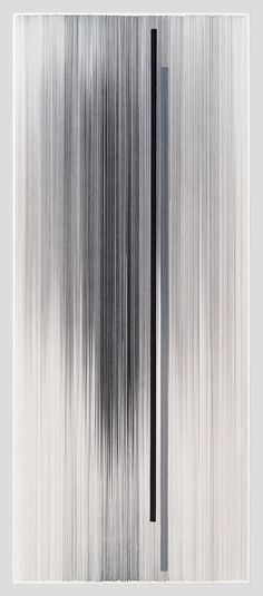 Anne Lindberg, notations 02 2014 graphite & colored pencil on mat board 58 by 24 inches