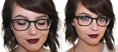 How to wear makeup with glasses- on the blog! www.mishmoshmakeup.com