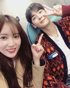 Im Soo hyang & Cha eunwoo, My ID gangnam beauty Korean Actresses, Korean Actors, Actors & Actresses, Korean Girl, Asian Girl, Lee Dong Min, Cha Eun Woo Astro, Drama School, Korean Shows