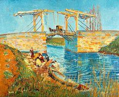Vincent van Gogh - Pont de l'Anglois at Arles with Washer-Women