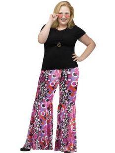 Women's Plus Size Flower Child Bell Bottoms Costume