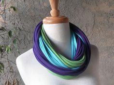 Pretty Peacock Deluxe Jersey Loop Scarf Handmade by sandeeknits, $32.00