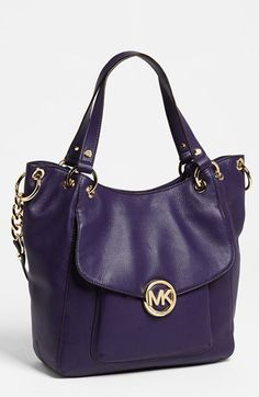 MICHAEL Michael Kors 'Fulton - Large' Leather Satchel available at #Nordstrom