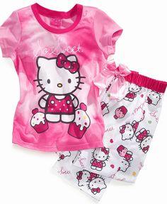 60627443c AME Kids Set, Girls or Little Girls 2-Piece Hello Kitty Pajamas & Reviews -  Kids - Macy's