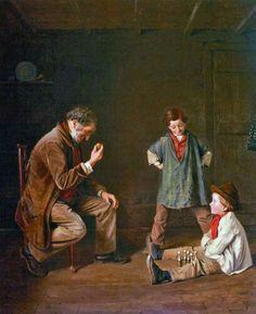 """Taking Aim"" ,   Painting by John Haynes-Williams,  English, 1836 - 1908"