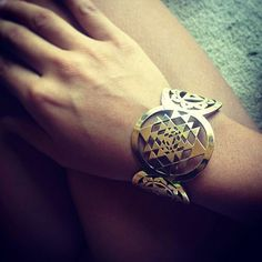 I WANT THIS The Sri Yantra -Shiva Shakti -Kundalini Snake Sacred Geometry bracelet on Etsy, $133.00