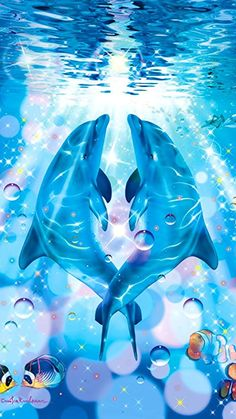 🐬Dauphins 📱 Fond d'écran cellulaire no 40 🐬 Dolphin Painting, Dolphin Art, Cute Baby Animals, Animals And Pets, Dolphin Images, Dolphins Tattoo, Underwater Art, Bottlenose Dolphin, Ocean Wallpaper