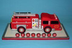 Firetruck Cake   Flickr - Photo Sharing! Fire Cake, Fireman Birthday, Sculpted Cakes, Firetruck, Cakes For Boys, Cupcake Cakes, Cupcakes, Cake Ideas, Cake Decorating
