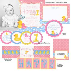 Rubber Ducky Birthday Party Pack