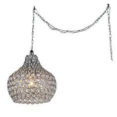 4fabb82de Warehouse of Tiffany Cecilia 1-light Crystal Cone 7-inch Chrome Swag Lamp -  Walmart.com