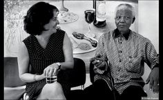 Gillian Slovo with Nelson Mandela in London in 2003. Mandela was born in Mvezo, Eastern Cape, in 1918, son of a Thembu chief.