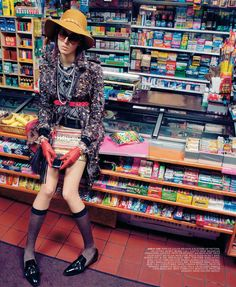 visual optimism; fashion editorials, shows, campaigns & more!: runaround ruby: ruby aldridge by miles aldridge for the ny times t style magazine women's winter 2011
