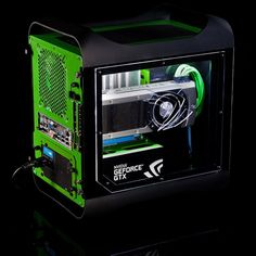 Check out this custom Bitfenix Prodigy from our European teams. A little touch of color goes a long way. #nvidia
