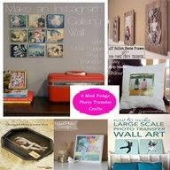 6 Mod Podge photo transfer crafts from @Alissa Huybers Crafts