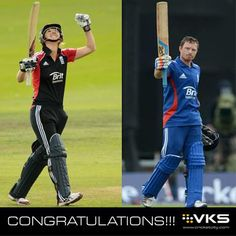 CONGRATULATIONS! Charlotte Edwards and Ian Bell on winning the England cricketer of he year - 2014