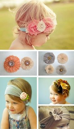 A beautiful bunch of #DIY baby headbands for your little | http://toyspark.blogspot.com