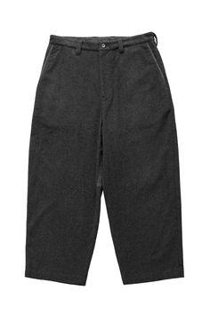 Porter Classic - CASHMERE WIDE PANTS - GRAY ポータークラシック《カシミアワイドパンツ》グレー 完璧なシルエット、バランス感が他では味わえない最高な一着。オリジナルのビーバーカシミアは、軽くて柔らかく、保温性と保湿性を兼ね備えた上品な光沢。冬の寒さが恋しくなる限られた贅沢品。 Porter Classic, Bermuda Shorts, Simple, Pants, Women, Fashion, Trouser Pants, Moda, Fashion Styles