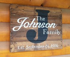 Hand Painted Wood Pallet Sign  Family Name by SignatureStatement