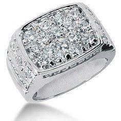 06da85d05c12 Platinum Men s Diamond Ring 2.68ct