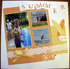 Summer Scrapbook Pages | Single Page 12x12 Summer Scrapbook Page