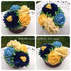 Maha's Blue cupcakes