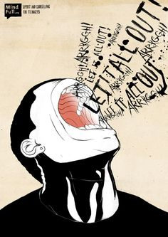 An illustration by Will Barras promoting mental health charity MindFull.