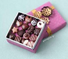 Miniature Food - Purple Chocolate Box by PetitPlat - Stephanie Kilgast, via Flickr: