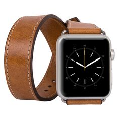 Apple Watch Double Tour Genuine Leather Band Strap, Husband Gift Wife Gift, Apple Watch Leather Band 42mm in Camel by IstanbulLeatherShop on Etsy
