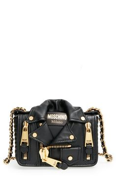Moschino 'Mini Leather Jacket' Crossbody Bag available at #Nordstrom