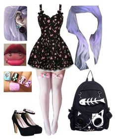 """Satan's school: pastel goth"" by bandom-stuff on Polyvore"