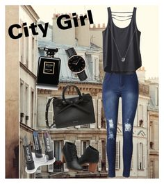 """City Girl"" by fcfashion ❤ liked on Polyvore featuring Kavu, Topshop, Links of London and Chanel"