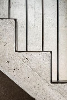 Metal and concrete staircase. Visit houseandleisure.co.za for more