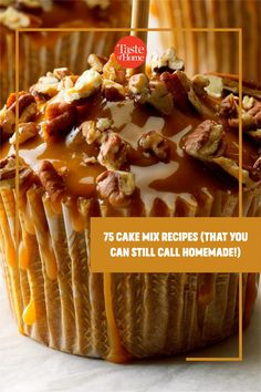 These great cake mix recipes use the store-bought mix as an ingredient, not an end point. Your gorgeous dessert will still be distinctive and delicious—and look nothing like the photo on the box. Cake Mix Recipes, Cupcake Recipes, Dessert Recipes, Cupcake Ideas, Summer Desserts, Fun Desserts, Delicious Desserts, Yummy Food, Cake Mix Bars