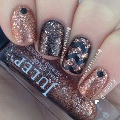 70+ Stunning Glitter Nail Designs - IdeaStand
