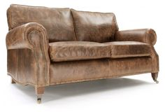 Hepburn| Vintage Leather 3 Seater Sofa from Old Boot Sofas