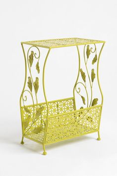 """Love this side table from Urban Outfitters. Looks perfectly decorative and """"vintagey"""" for storage in my downstairs bath."""