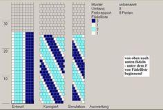 Simple tubular crochet color diagram.
