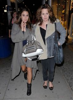 Nikki Reed and Elizabeth Reaser head out for a girly night out in Vancouver. The Twilight stars hit the town in  downtown Vancouver.