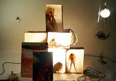 example of a creative a level photography theme- Light Box subjects