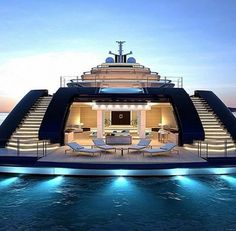 Mega Yacht lifestyle by our great friend by worldwide_luxury Yacht Design, Boat Design, Super Yachts, Luxury Cars, Luxury Homes, Luxury Yacht Interior, Luxury Travel, Yachting Club, Private Yacht