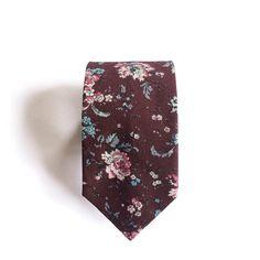 Thomas Floral Burgundy Cotton Men's Tie, Skinny Tie by SunLondon on Etsy https://www.etsy.com/listing/235106437/thomas-floral-burgundy-cotton-mens-tie