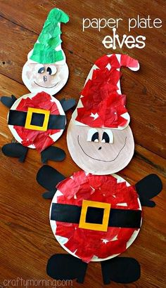 Sempre criança: http://www.craftymorning.com/paper-plate-elf-craft...