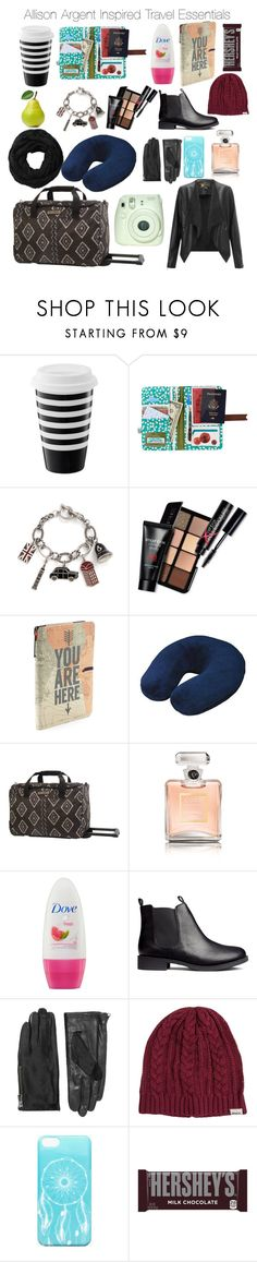 """""""Teen Wolf - Allison Argent Inspired Travel Essentials"""" by nathj ❤ liked on Polyvore featuring Disaster Designs, Smashbox, American Tourister, Billabong, Chanel, H&M, Lipsy, Designers Remix, Subtle Luxury and RVCA"""