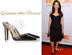 52392026d1a Lucy Liu s Gianvito Rossi Leather And PVC Pumps - Red Carpet Fashion Awards
