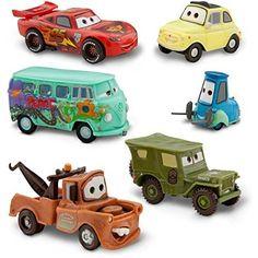 Disney Pixar Cars - Lightning McQueen Pit Crew - 6 Figure Play Set - In Display Box
