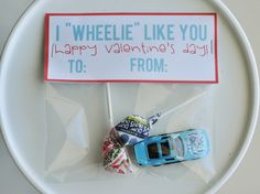Valentines: perfect for boys! Cars, trucks, preschool or kindergarten valentines, can be non-candy