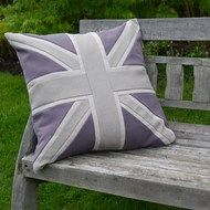 Luxurious, handmade Union Jack themed cushions in contemporary colours