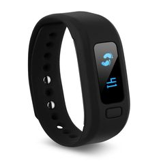 Excelvan Bluetooth 4.0 Sport Wristband Band Smart Bracelet Watch Pedometer Sleep Health Fitness Tracker Activity Wristband for Android,IOS (Black) * Details can be found by clicking on the image.