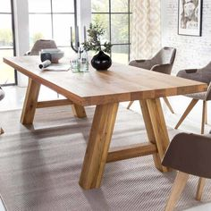 Coffee Table Makeover, Wood Table Design, Dinning Table, Dining Room, Solid Oak, Wood Furniture, Mobiles, Sweet Home, Home Decor